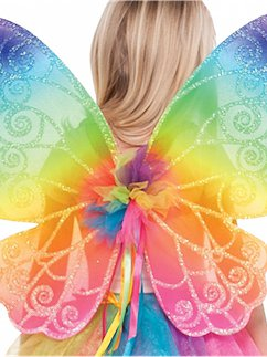 Rainbow Fairy Wings - Child 48cm