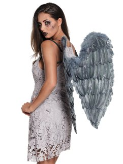 Fallen Angel Grey Wings (65cm)