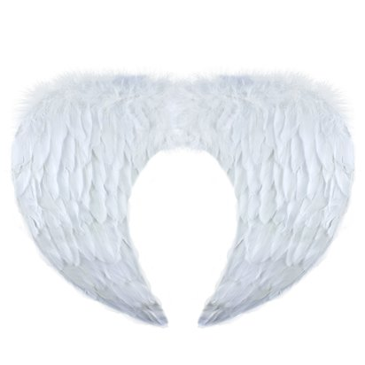 White Wings - Womens Christmas Nativity Fancy dress Accessories  front