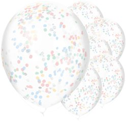"Baby Wishes Confetti Balloons - 11"" Latex"