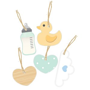 Baby Wishes Wooden Tags