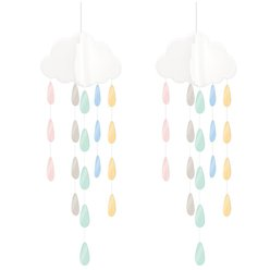 Baby Wishes Hanging Clouds & Droplets