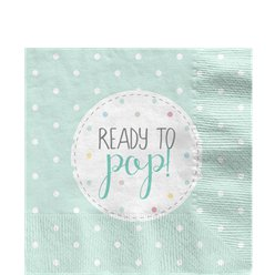 Baby Wishes Paper Napkins - 33cm