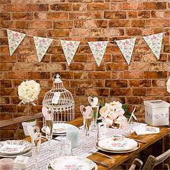 With Love Paper Wedding Bunting - 3.5m