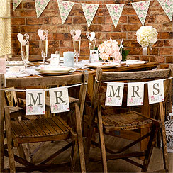 With Love 'Mr & Mrs' Chair Wedding Bunting
