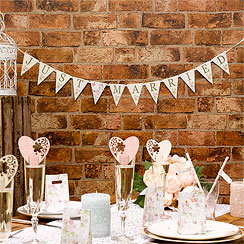 With Love 'Just Married' Wedding Mini Bunting - 1m