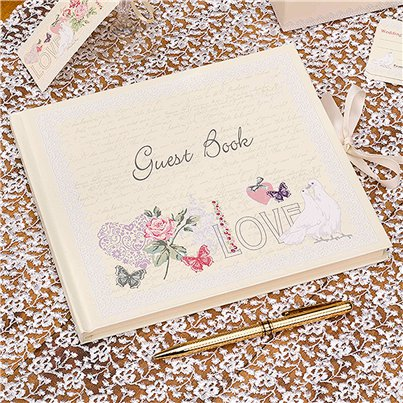 With Love Wedding Guest Book