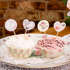 With Love Wedding Cake Picks