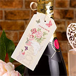 With Love Wedding Luggage Tags - Large