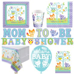 Woodland Baby Deluxe Party Pack