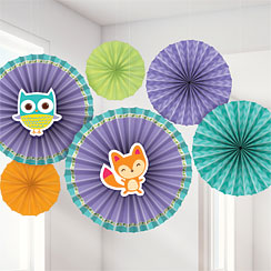Woodland Baby Paper Fan Decoration