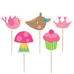Woodland Princess Birthday Candles