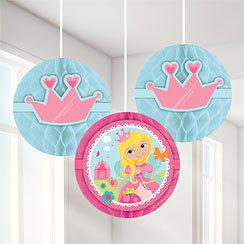 Woodland Princess Honeycomb Decorations