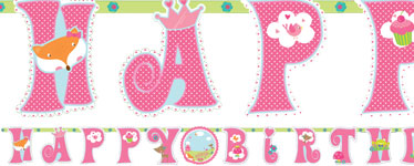 Woodland Princess Add An Age Letter Banner - 3.2m