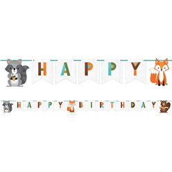 Woodland Animals Ribbon Banner - 2.4m