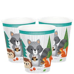 Woodland Animals Paper Cups - 256ml