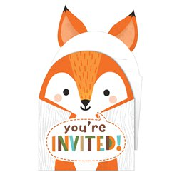Woodland Animals Invitations