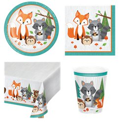 Woodland Animals Party Pack - Value Pack for 8
