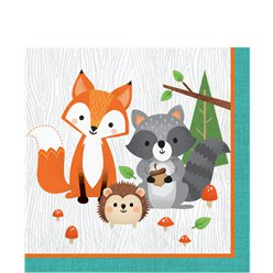 Woodland Animals Napkins - 33cm