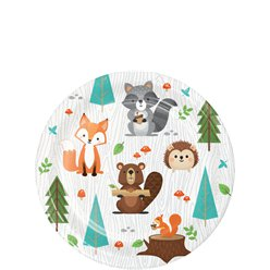 Woodland Animals Paper Plates - 18cm