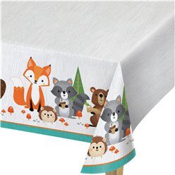 Woodland Animals Plastic Tablecover - 1.37m x 2.59m