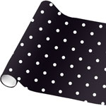 Black Polka Dot Wrapping Paper - 4.8m