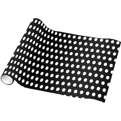 Black Dot Wrap 16ft 1 (Wrapping Paper)