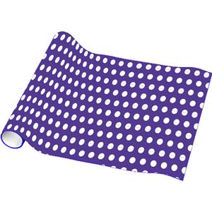 Purple Polka Dot Wrapping Paper - 4.8m