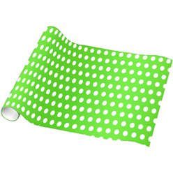 Kiwi Green Polka Dot Wrapping Paper - 4.8m