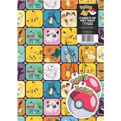 Pokémon Wrapping Paper & Tags