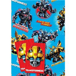Transformers Wrapping Paper & Tags
