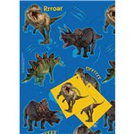 Dinosaur Wrapping Paper & Tags