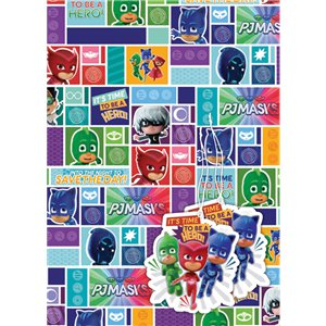 PJ Masks Wrapping Paper & Tags