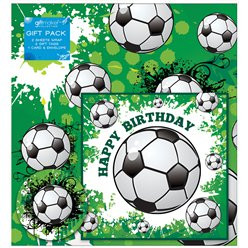 Football Gift Wrapping Pack - Card, Paper & Tags