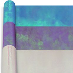 Iridescent Wrapping Paper Roll - Assorted Colours - 2m