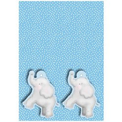 Baby Boy Wrapping Paper - 2 Sheets 2 Tags