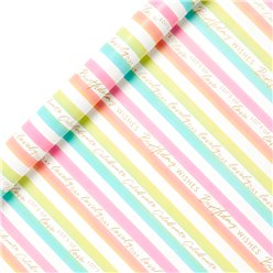 Colourful Stripe Wrapping Paper Roll - 2m