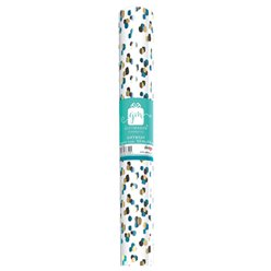 Gold & Teal Wrapping Paper Roll - 2m