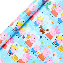 Peppa Pig Wrapping Paper Roll - 2m