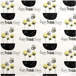 Happy Bee Day - Sheet of Eco Gift Wrap