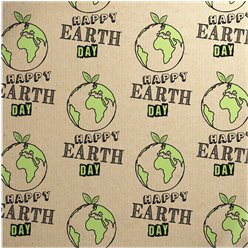 Happy Earth Day - Sheet of Eco Gift Wrap
