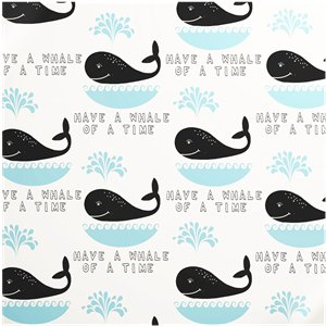 Have a Whale of a Time - Sheet of Eco Gift Wrap