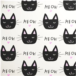 Meow - Sheet of Eco Gift Wrap