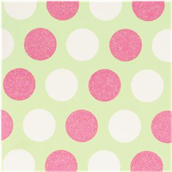 Glitter Pastel Spots - Sheet of Gift Wrap