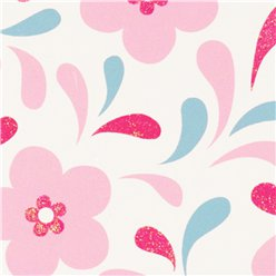 Glitter Pastel Flower - Sheet of Gift Wrap