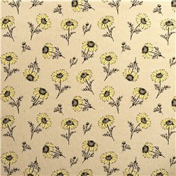 Sunflower Print - Sheet of Eco Gift Wrap