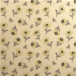 Sunflower Print Eco Gift Wrap