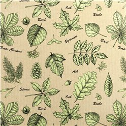 Leaf Print Eco Gift Wrap