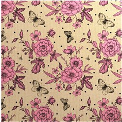 Pink Roses - Sheet of Eco Gift Wrap