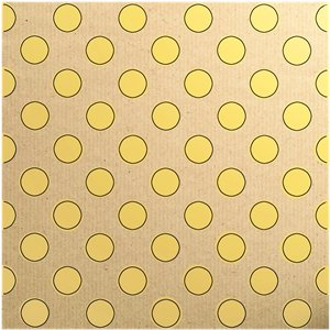 Yellow Dot Eco Gift Wrap